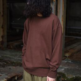 Phlannel / Suvin Cotton Sweat Shirt (Maroon Brown)