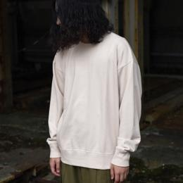 Phlannel / Suvin Cotton Sweat Shirt (Ecru Beige)