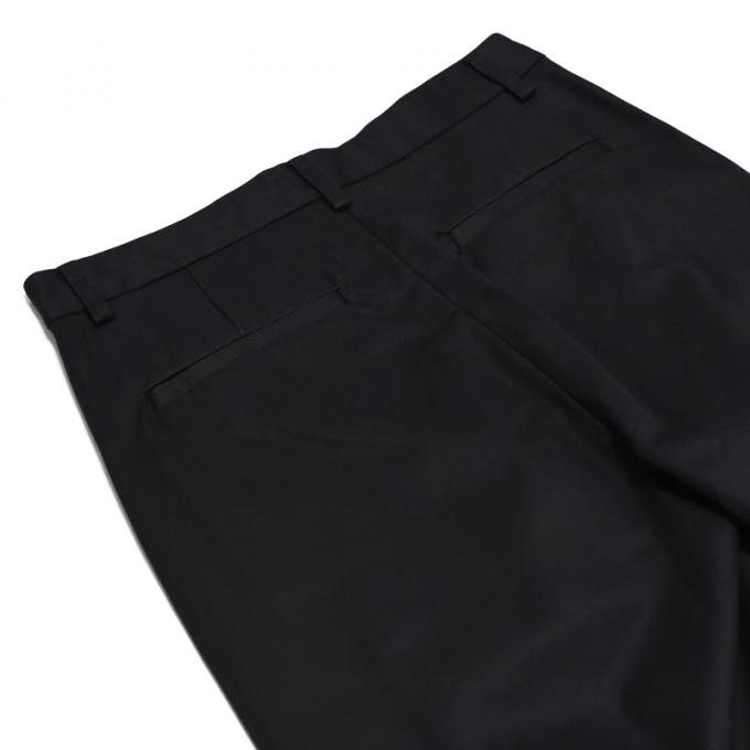 WIRROW / High Count Twill Tuck Pants (Black)