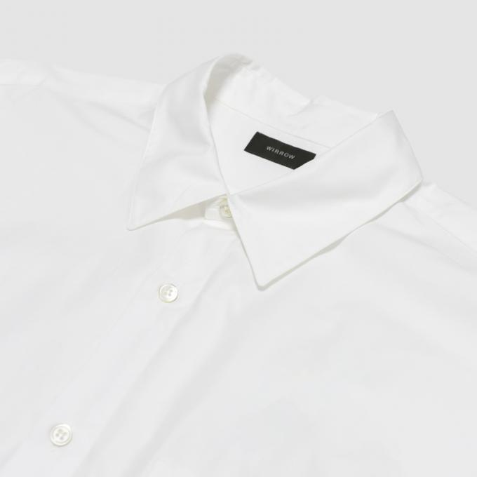 WIRROW / Cotton Poplin Regular Collar Shirt