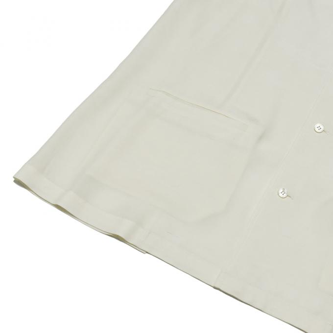 STUDIO NICHOLSON / Fluid Shirting Camp Collar Box Shirt (Cream)