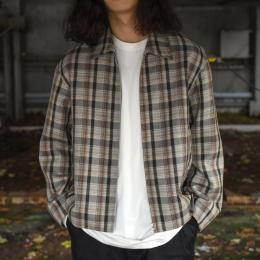 AURALEE / Double Face Check Zip Blouson