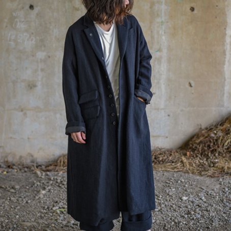 KLASICA / CHRONO.C Wool Linen Coat