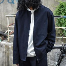STUDIO NICHOLSON / Wool Twill Outerwear Wool Liner (Dark Navy)