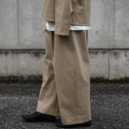 STUDIO NICHOLSON / Wool Twill Volume Pants (Camel)