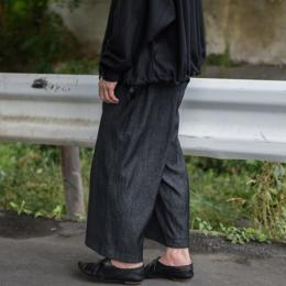 MAINU / Wool Cotton Side Dirts Pocket Wide Pants