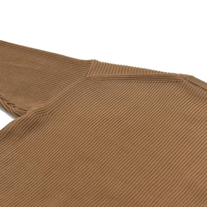 AURALEE / Super Fine Wool Rib Knit Big P/O (Brown)