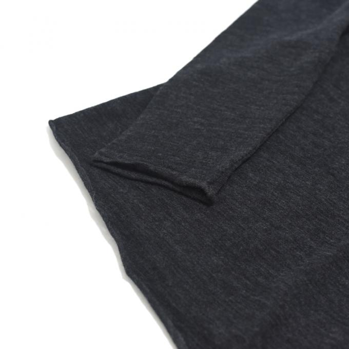 WIRROW / Wool Turtle Neck Cut&Sewn (Charcoal)