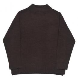 Honor gathering / Mock Neck Over Knit