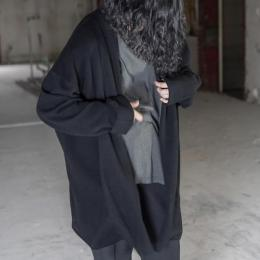 WIRROW / Wide Knit Robe (Black)
