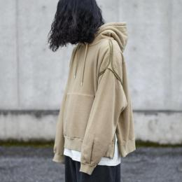 YOKE / Piping Wide Parka (Sand Beige)