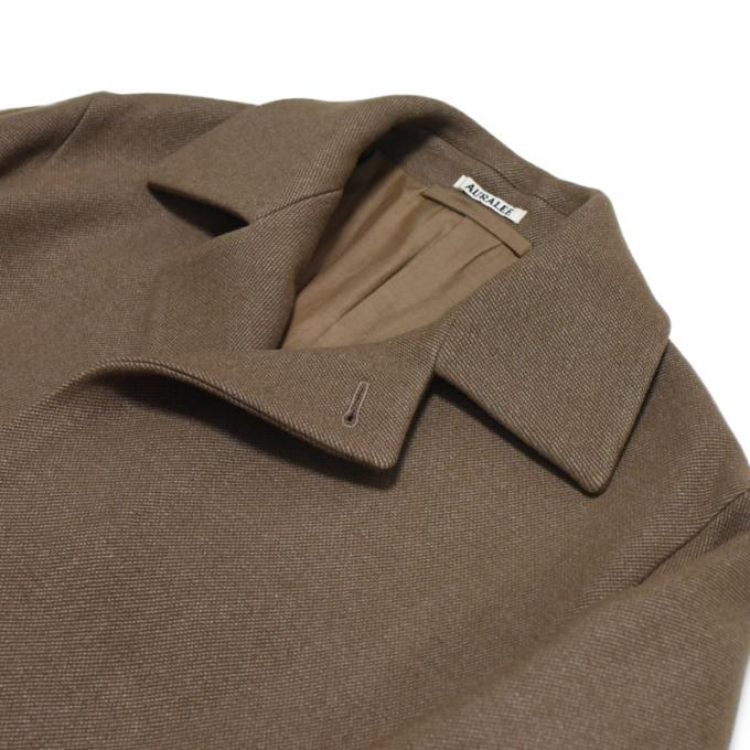 AURALEE / Wool Silk Melton Soutien Collar Coat (Light Brown)