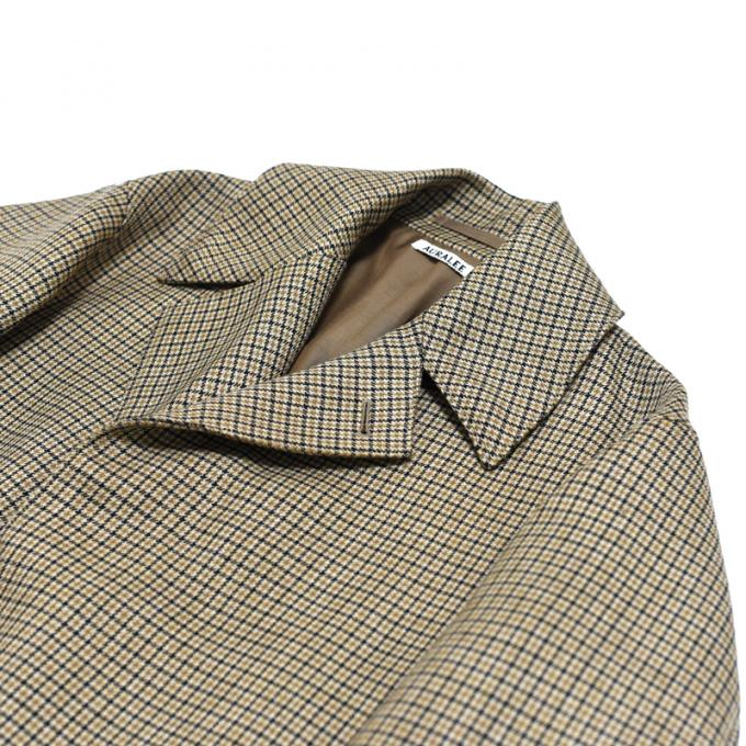 AURALEE / Double Face Check Long Coat