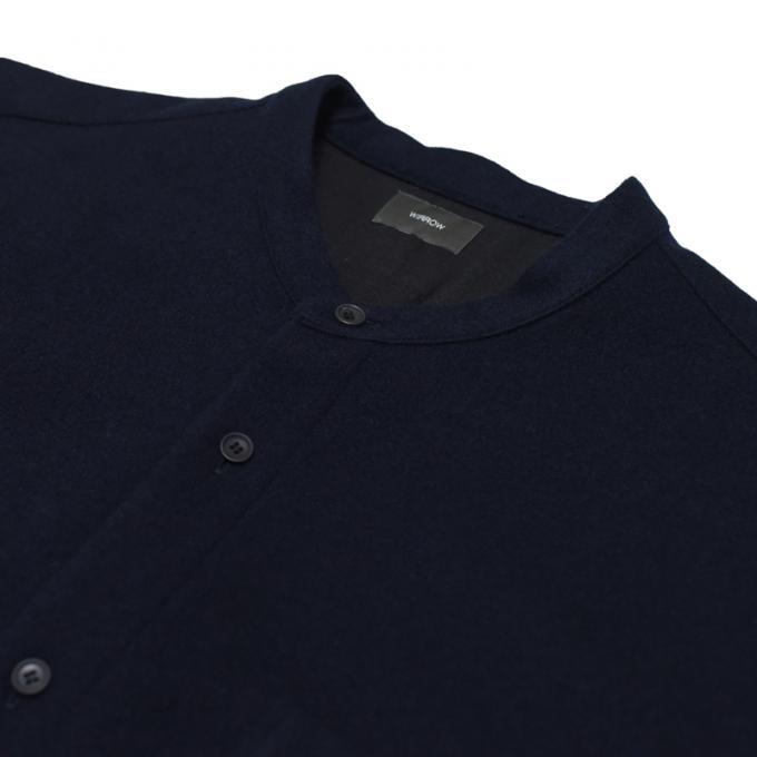 WIRROW / Melton Stand Collar Shirt