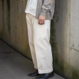 Phlannel / Cotton Corduroy Wide Trousers