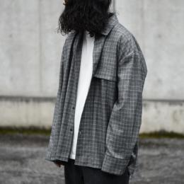 stein / Oversized Down Pad Shirt (Glen Check)