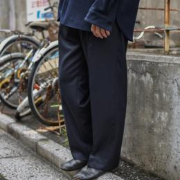Riprap / Two Tuck Wide Slacks (DK Navy)