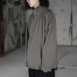 WIRROW / Bottle Neck Knit Pullover (Mocha)