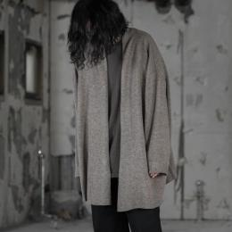 WIRROW / Wide Knit Robe (Mocha)