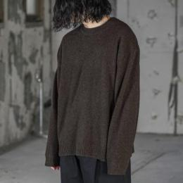 WIRROW / Cashmere Sable Knit Pullover (Dark Brown)