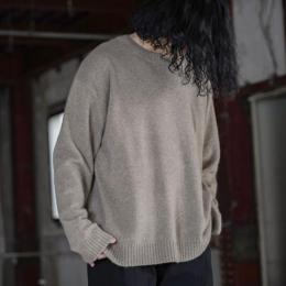 WIRROW / Cashmere Sable Knit Pullover (Natural)