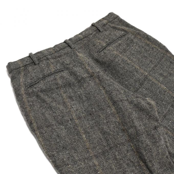 【SALE】un/unbient / Classic Tweed One Tuck Trousers