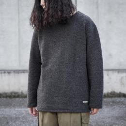 KIJI / Wool Basque Shirts (Black)