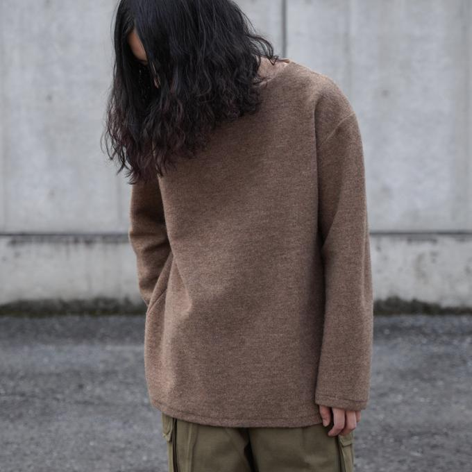【SALE】KIJI / Wool Basque Shirts (Beige)