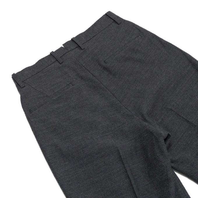 Phlannel / Aries Wool Linen Pleated Cropped Trousers