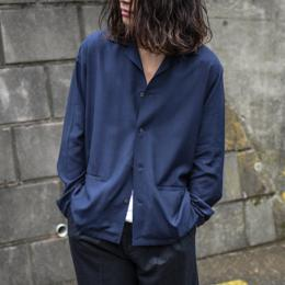 STUDIO NICHOLSON / Camp Collar Box Shirt (Dark Navy)
