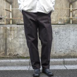 STUDIO NICHOLSON / Peached Twill Flat Front Tapered Pants