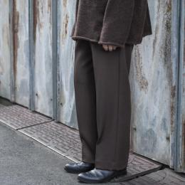 WIRROW / Wool Gabardine Straight Slacks (Dark Brown)