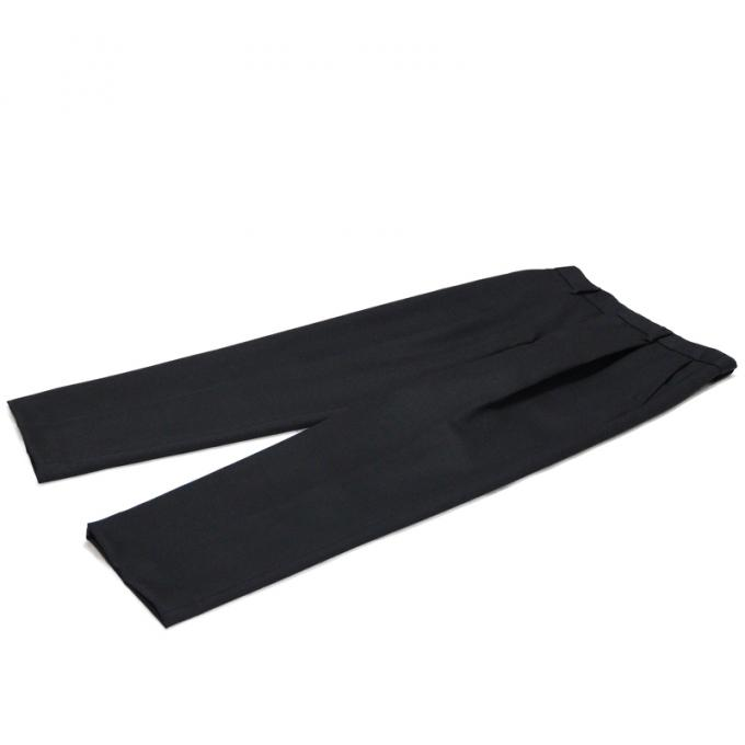 WIRROW / Wool Gabardine Straight Slacks (Black)