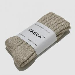 YAECA / Cotton Silk ソックス (L.Brown)