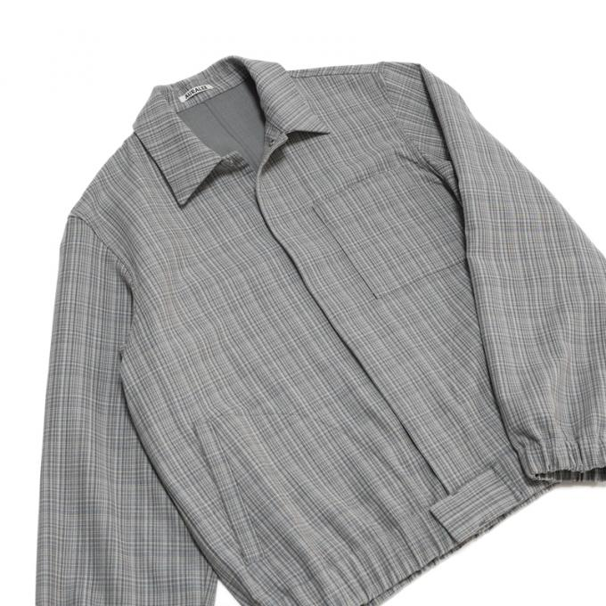 AURALEE / Hard Twist Wool Double Face Check Blouzon (Gray Check)
