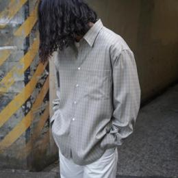 AURALEE / Super Light Wool Check Shirts